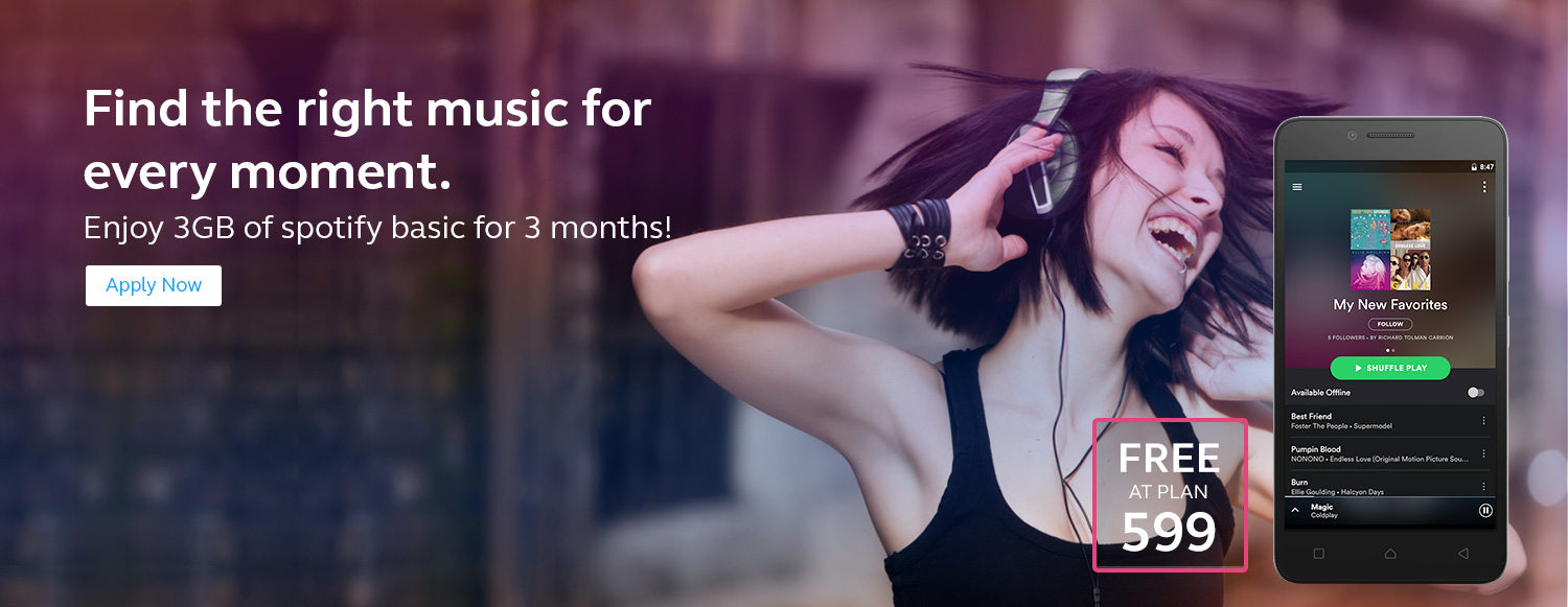 Enjoy 3GB of spotify basic for 3 months!