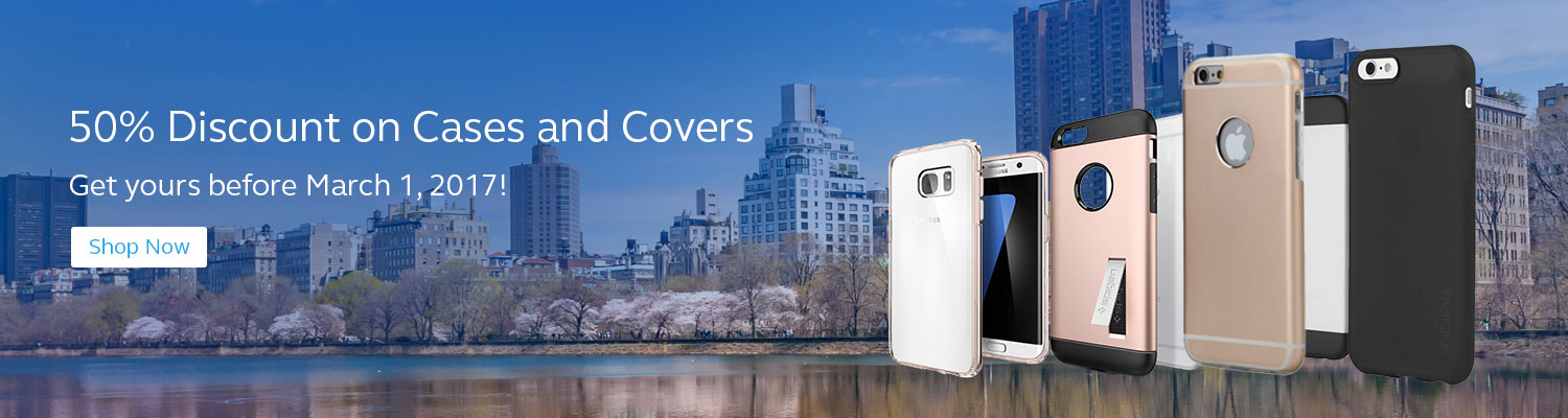 50% discount on cases and covers