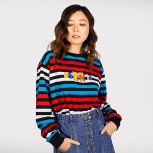 0917 MTV Striped Sweatshirt
