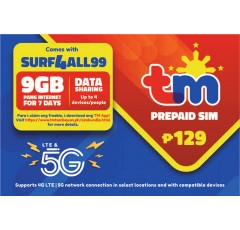 TM SURF4ALL99 Pre-loaded SIM Card