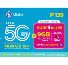 Globe Prepaid SURF4ALL99 Pre-loaded SIM Card