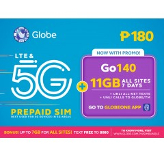 Globe Prepaid Go140 Pre-loaded SIM Card