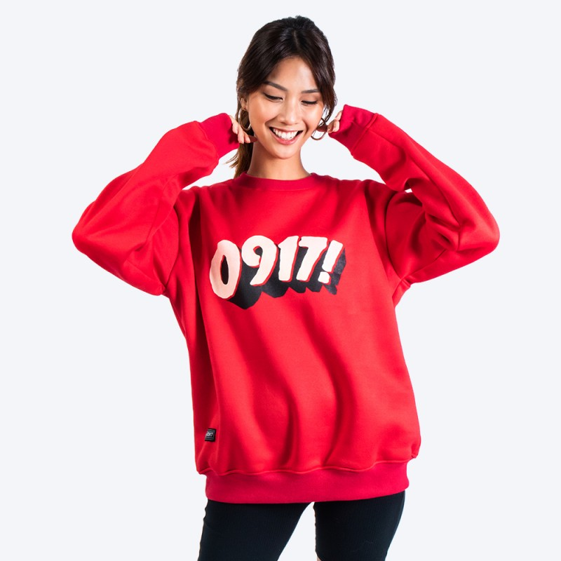 0917 Diner Red Orange Scream Sweater
