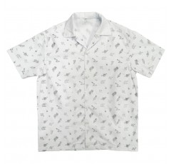 0917 Summer Print Button Down Shirt