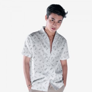 0917 Summer Print Button Down Shirt - Men