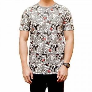 Mickey Mouse Charcoal Pattern T-shirt