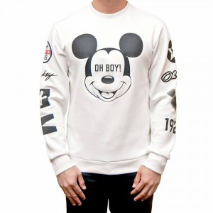 Mickey Mouse White Bomber Jacket