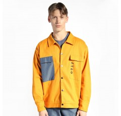 Oversized Jacket with Accent Pocket