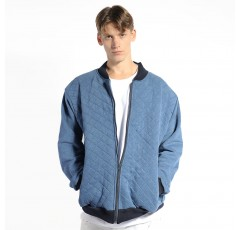 Quilted Prussian Bomber Jacket