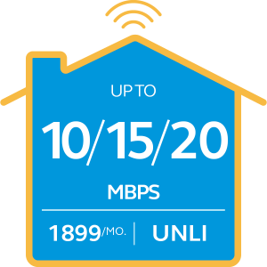 Broadband Plan 1899 Go Unli