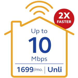 Globe At Home Plan 1699 Go Unli - 10Mbps