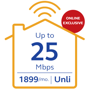 Globe At Home Plan 1899 Go Unli - 25Mbps