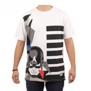 Abstract Captain America Tee
