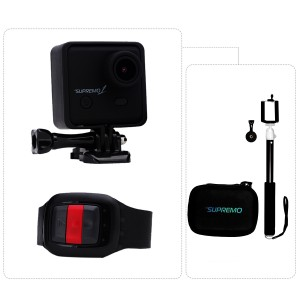 Supremo 1 WiFi Action Camera + Jackpod Monopod + Bag Bundle