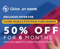 Globe Postpaid Mobile Subs get 50% off for 6 mos.