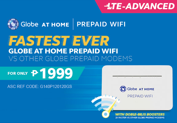 Fastest Ever - Globe At Home Prepaid WiFi