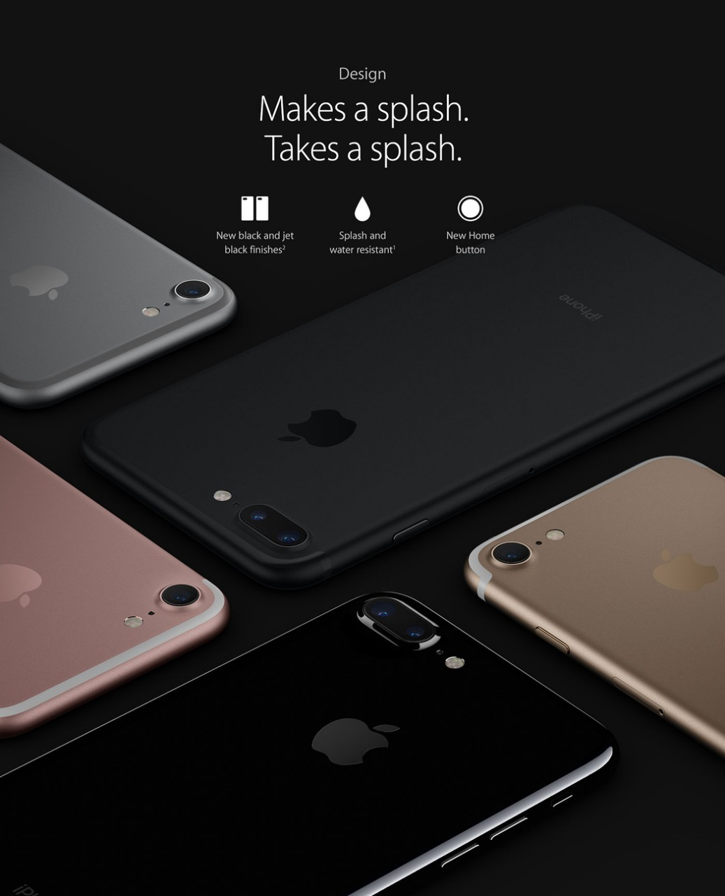 apple iphone 7 plus jet black. iphone 7 and plus are splash, water dust resistant, were tested under controlled laboratory conditions with a rating of ip67 iec apple iphone jet black i