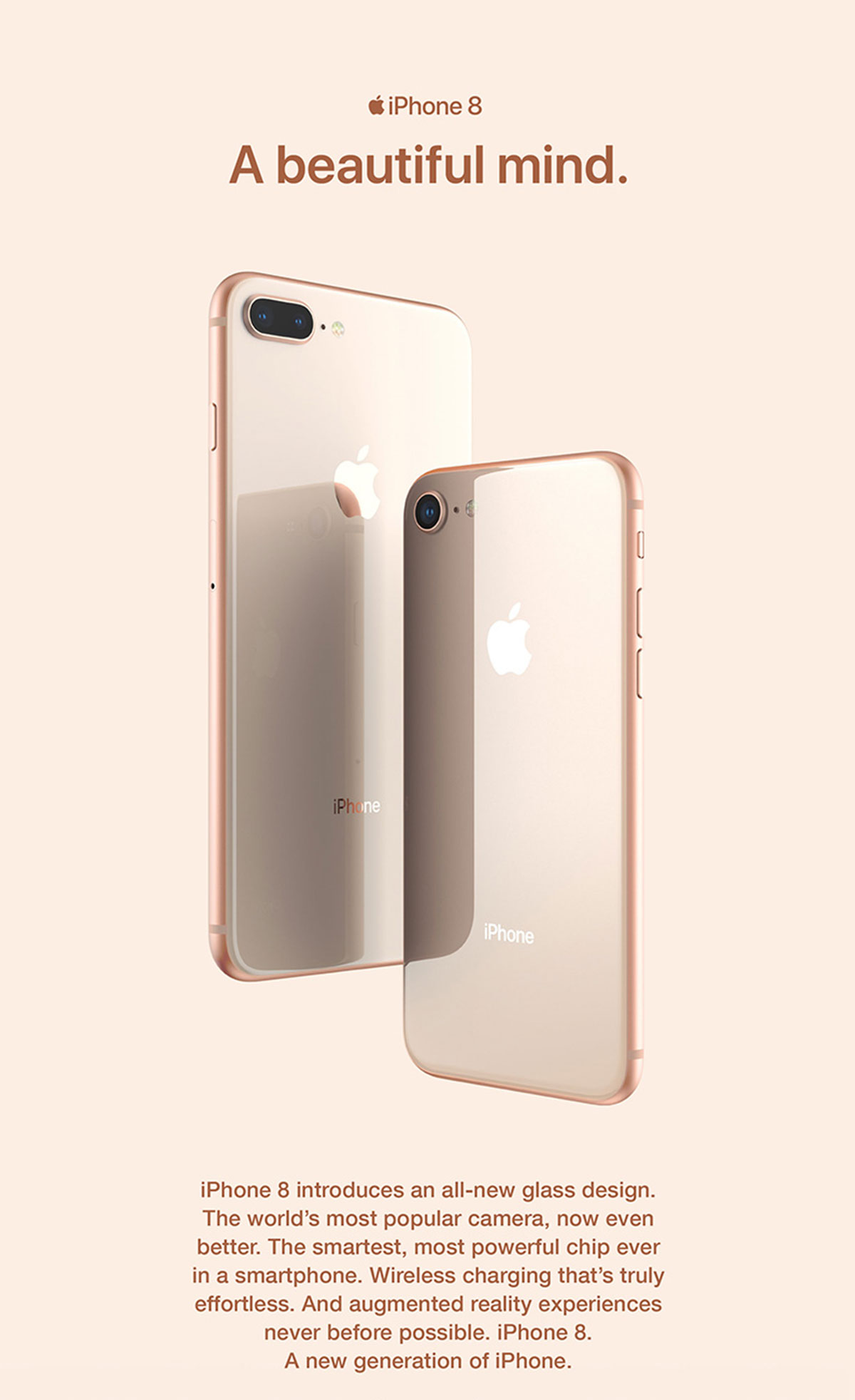 iPhone 8 and 8 plus