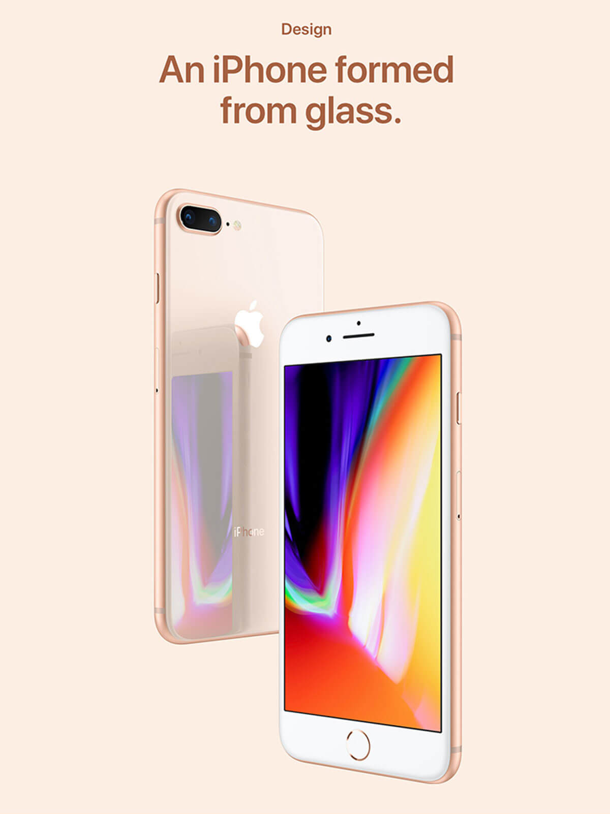 iPhone 8 formed from glass