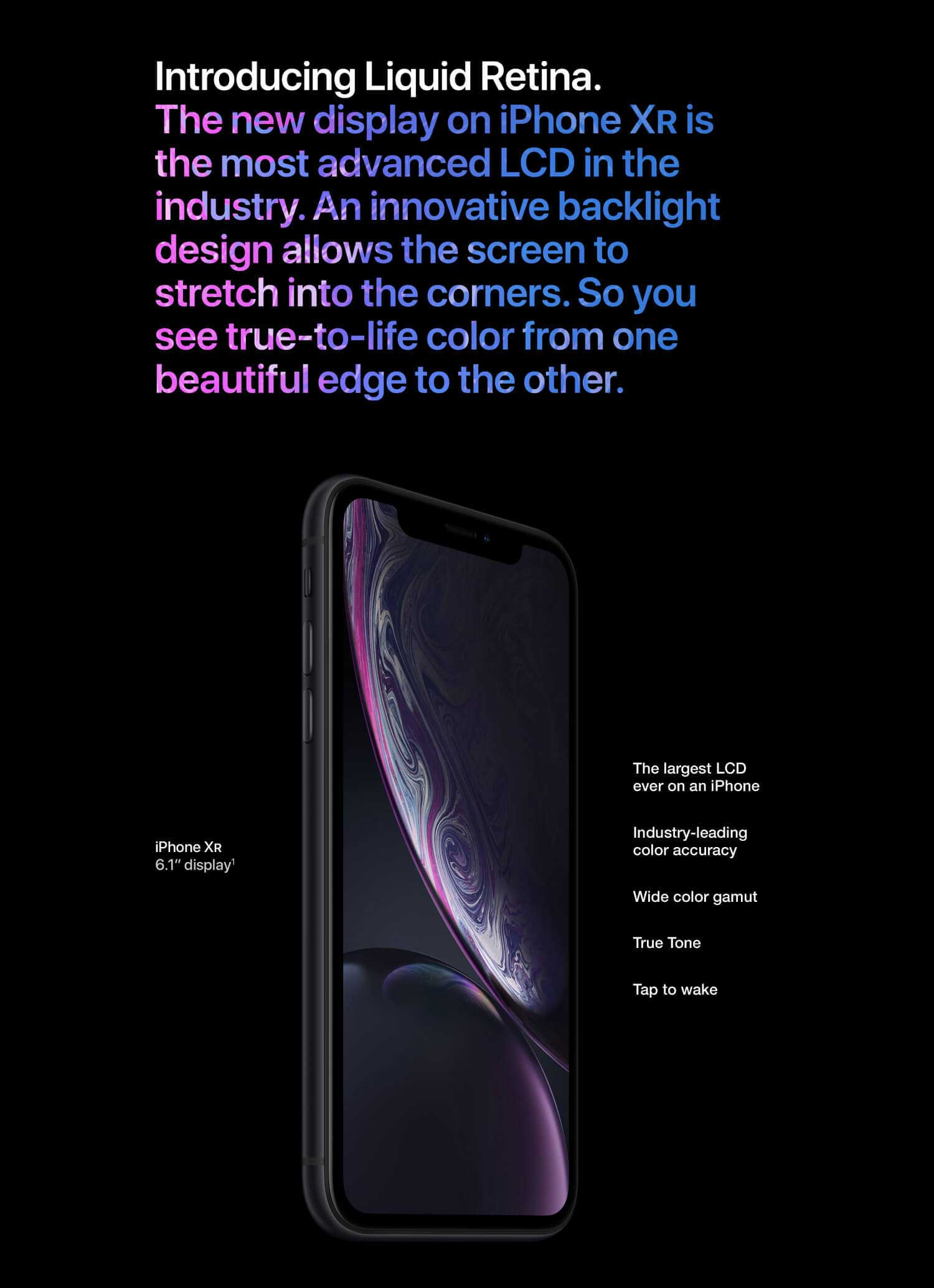 iPhone XR screen display
