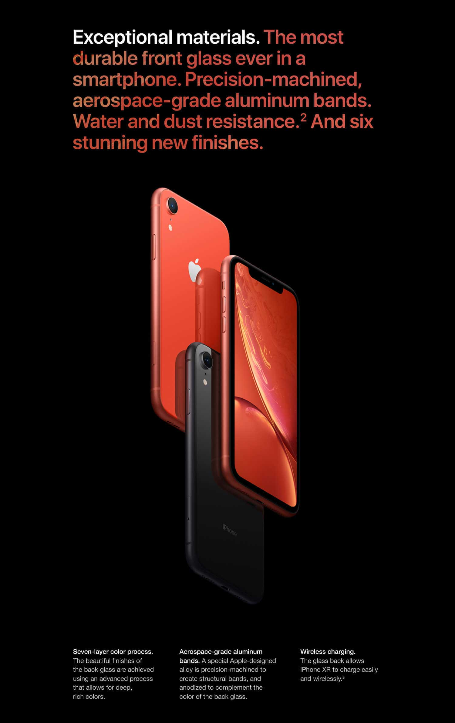 iPhone XR color red and black