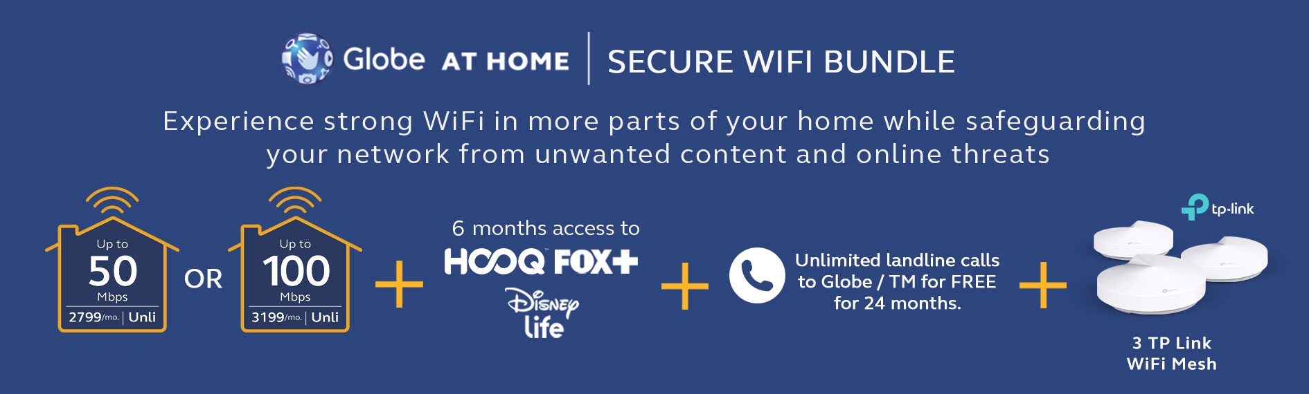 Globe At Home Secure WiFi Bundle with TP-Link Router