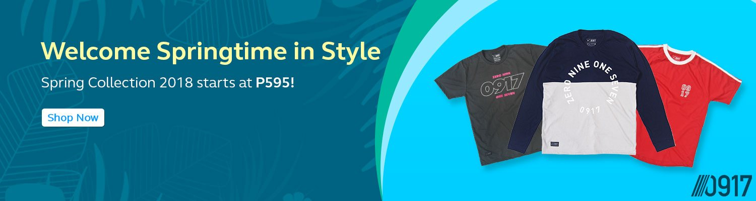 SSpring Collection 2018  starts at P595!