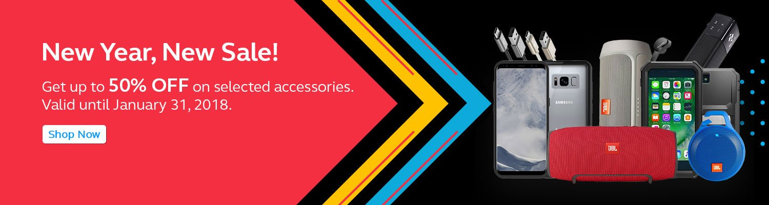 Get up 50% OFF on selected accessories.