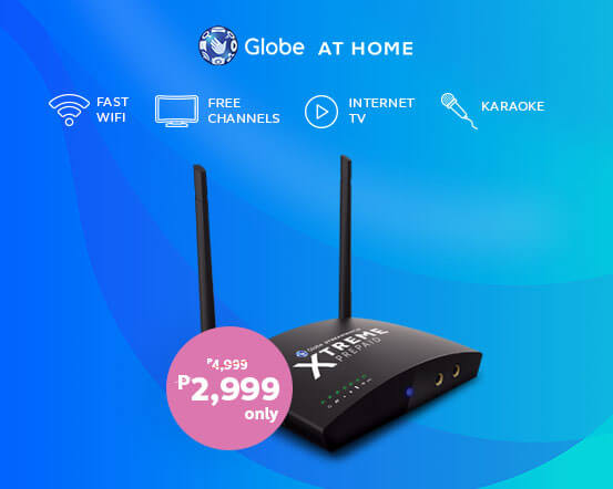 3-in-1 Globe At Home Xtreme Home Prepaid WiFi!