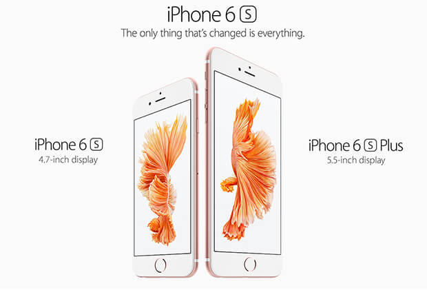 iPhone 6s and 6s Plus size comparison