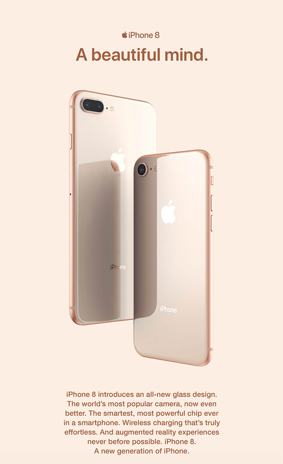 iPhone 8 and iPhone 8 Plus glass back design