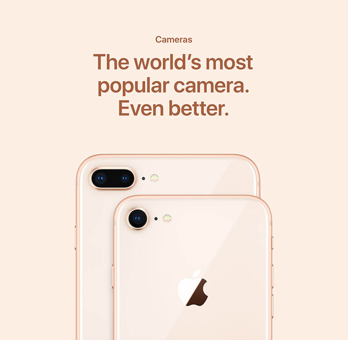 iPhone 8 and iPhone 8 Plus cameras