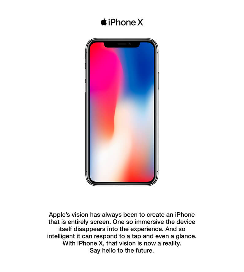 iPhone X screen display