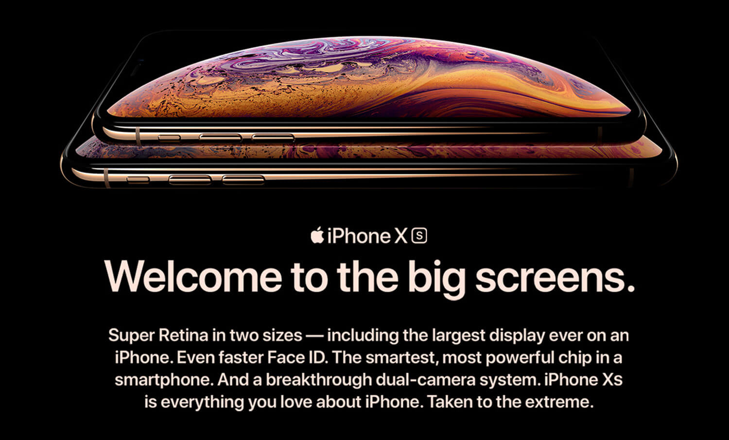 iPhone X and iPhone Xs Max