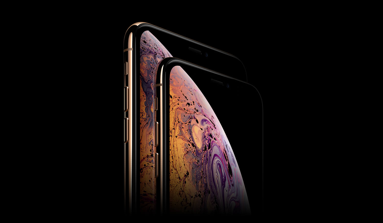 iPhone X and iPhone Xs Max front screen display