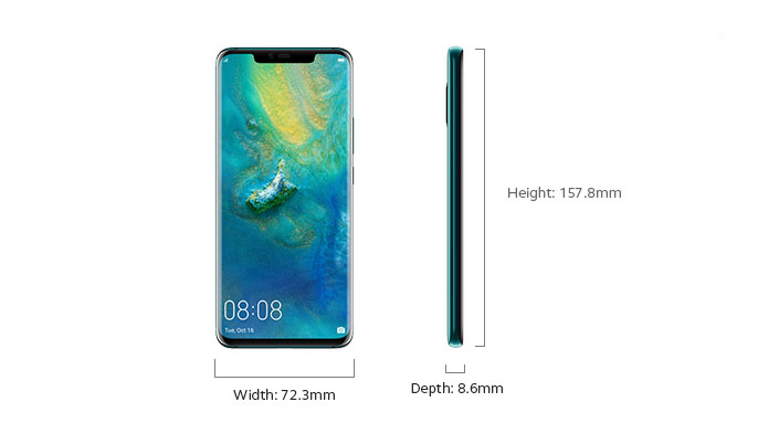 Huawei Mate 20 Pro - Device Only Height and Width