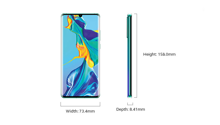 Huawei P30 Pro - Device Only Width and Depth