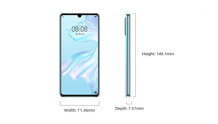 Huawei P30 - Device Only Width and Depth