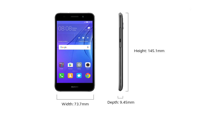 Huawei Y3 2018 - Device Only Height and Width