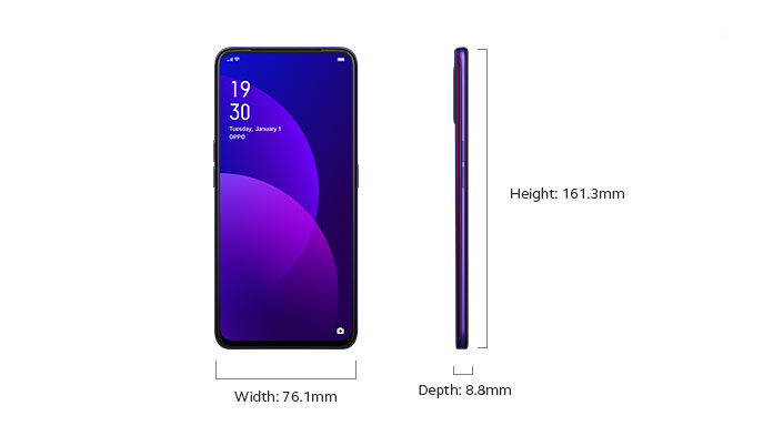 OPPO F11 Pro - Device Only Width and Depth