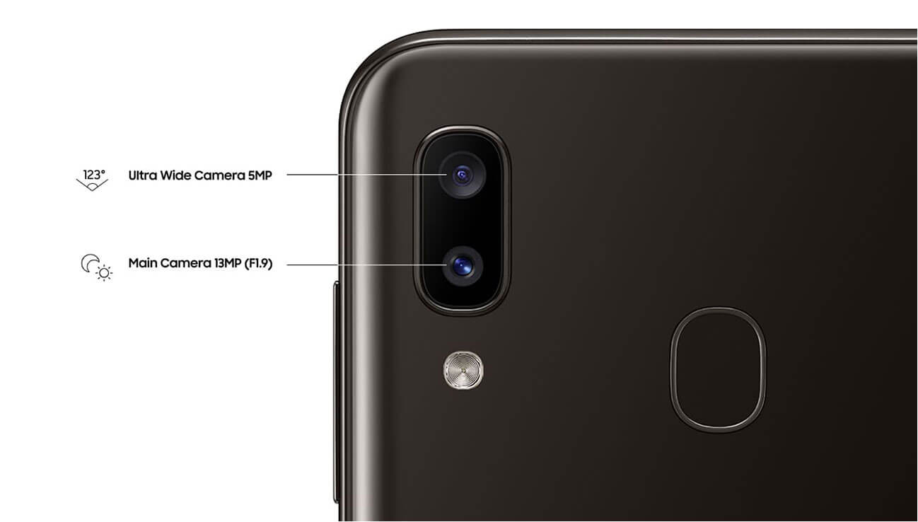 Samsung Galaxy a20 dual camera