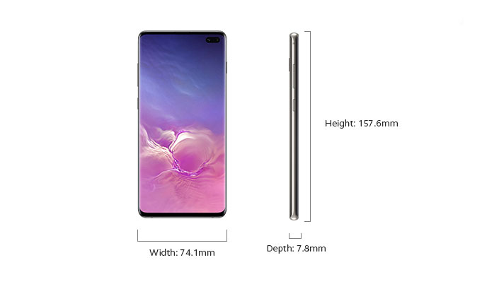 Samsung Galaxy S10+ - Device Only Height and Width